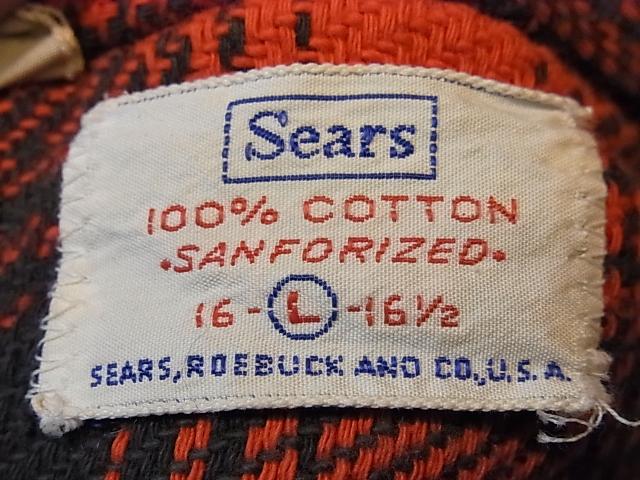 11/19(土)入荷!60'S SEARS マチ付きネルシャツ!_c0144020_19394228.jpg