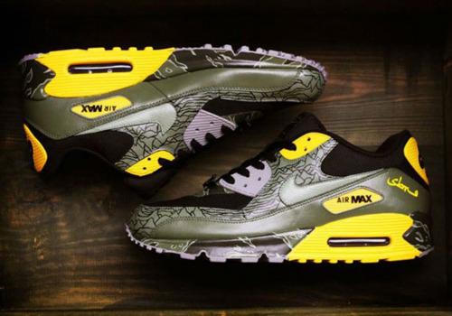 """Nike Air Max 90\'s \""""Unknown Pleasures\""""_e0121640_19413648.jpg"""
