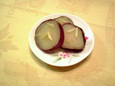 さつまいもの生姜シロップ煮_c0202046_11505282.jpg