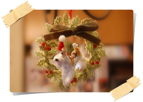 wire Fox Terrier Christmas wreath_a0205848_054710.jpg