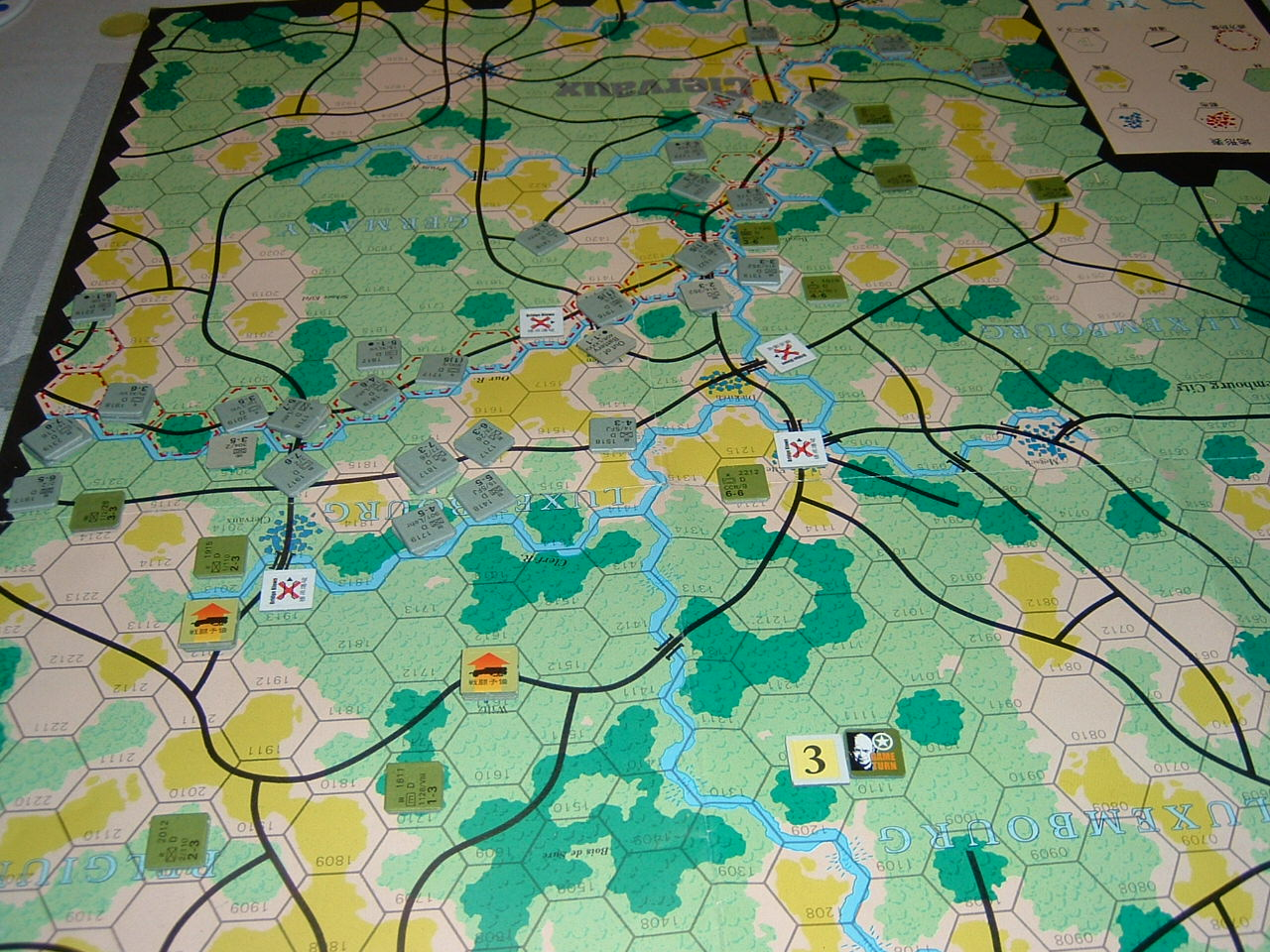 発掘2008.2.29対戦写真(SPI/TAC誌付録)Battle For The Ardennes「クレルボー篇」 その1_b0173672_18244230.jpg