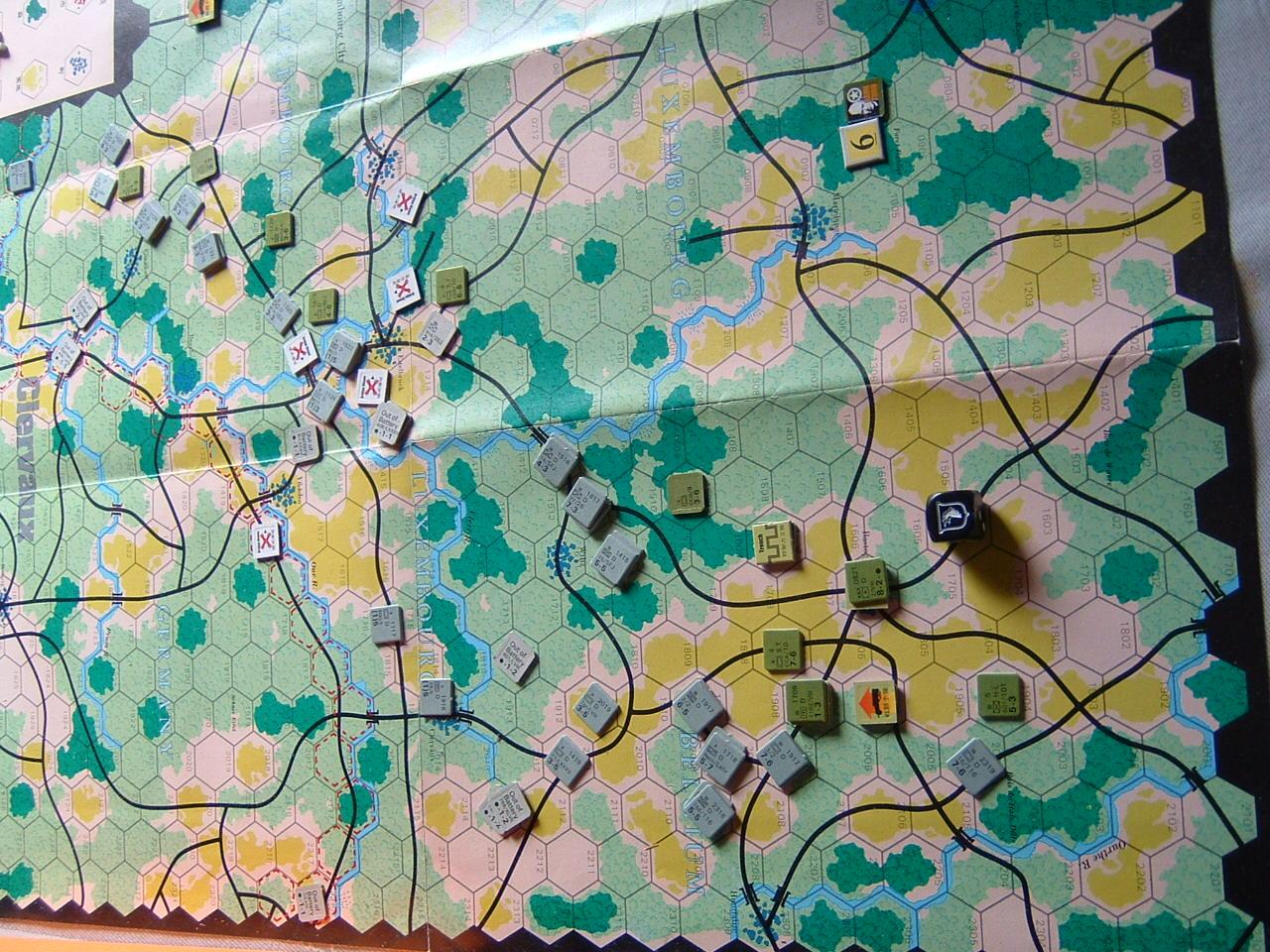 発掘2008.2.29対戦写真(SPI/TAC誌付録)Battle For The Ardennes「クレルボー篇」 その2_b0173672_18283710.jpg