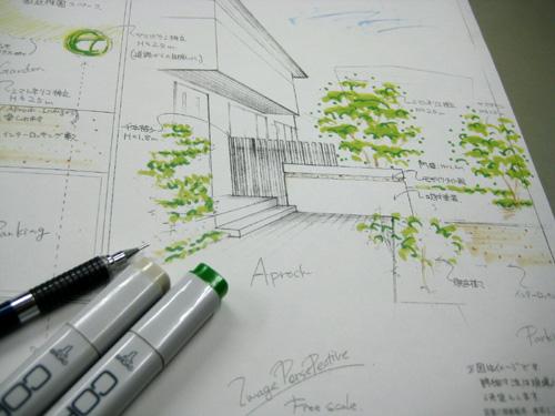 お庭のリフォームのタイルの打合せ_b0078597_21584296.jpg