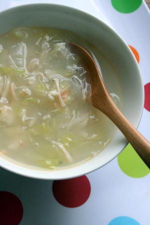 体あたため! 白菜、蟹、ねぎの白いスープ_f0141419_5473218.jpg