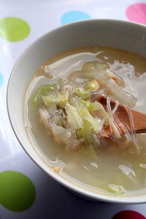 体あたため! 白菜、蟹、ねぎの白いスープ_f0141419_548875.jpg