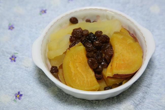 サツマイモとリンゴのレモン煮 _f0017530_20321547.jpg