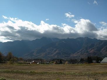 うっすら雪景色の八ヶ岳_a0211886_1755757.jpg