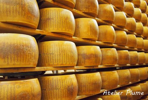 イタリアの旅  パルミジャーノ レッジャーノチーズ工場_e0154202_17483458.jpg