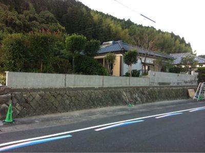 日南市H様邸和風塀renovation工事_b0236217_2134398.jpg