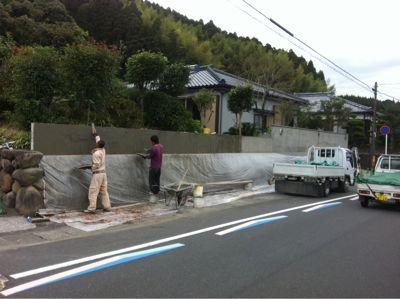 日南市H様邸和風塀renovation工事_b0236217_21344125.jpg