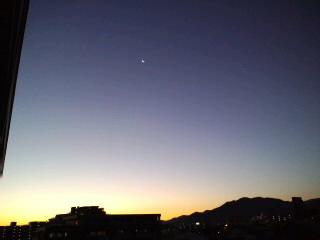 おはようございます!福岡は快晴!!月もキレイ〜これから九年庵に行ってきます。_d0082356_6404033.jpg