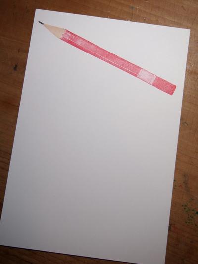 原寸大鉛筆はんこ と ちっちゃい鉛筆_c0154210_1954325.jpg
