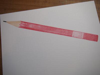 原寸大鉛筆はんこ と ちっちゃい鉛筆_c0154210_1964275.jpg