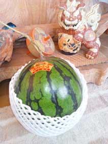 柿収穫!なぜかスイカも…_d0157021_17101939.jpg