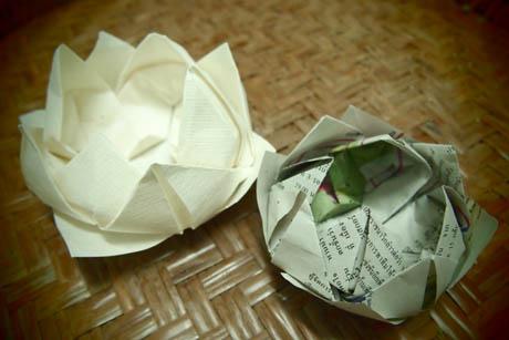 ハート 折り紙 折り紙 蓮の花 折り方 : yunkao.exblog.jp