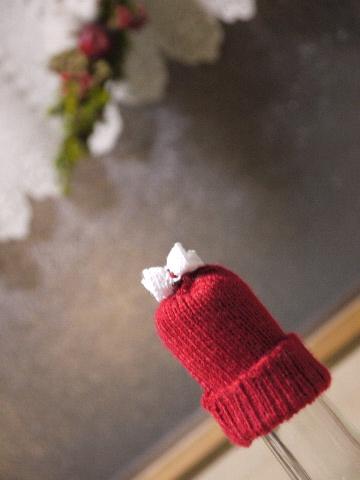 クリスマスニットの帽子・・・・_e0086864_2342020.jpg
