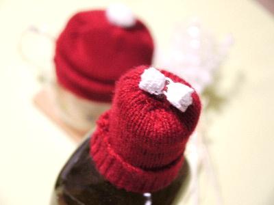 クリスマスニットの帽子・・・・_e0086864_2344670.jpg
