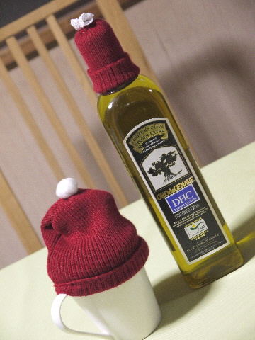 クリスマスニットの帽子・・・・_e0086864_2345669.jpg