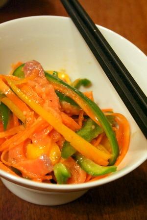 【1番レシピ】スモークサーモンとパプリカの彩りサラダ_f0141419_7281488.jpg