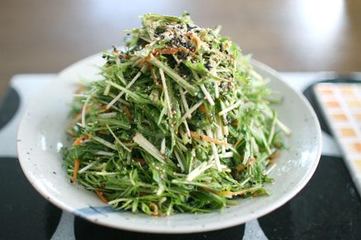 水菜の中華ゴマドレ和え_c0182144_1441746.jpg