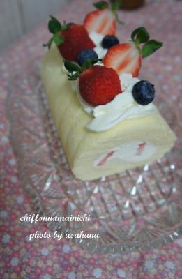 いちごのロールケーキ&多肉植物教室♪_f0193555_15481830.jpg