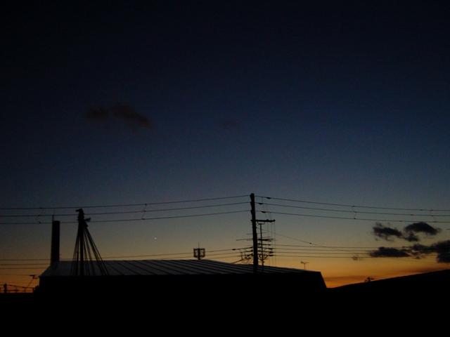 夕焼け空の金星を観て_f0079085_21572122.jpg