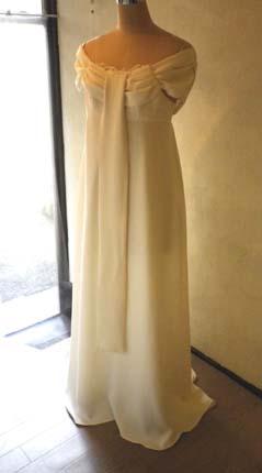 胸元ドレープリボンのドレス (フルオーダー)_b0199696_1421325.jpg