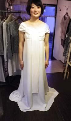 胸元ドレープリボンのドレス (フルオーダー)_b0199696_14253671.jpg
