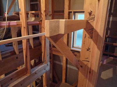 階段手摺をつけました。空中おりかえし_a0148909_9393151.jpg
