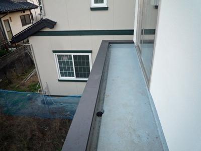 階段手摺をつけました。空中おりかえし_a0148909_9423158.jpg