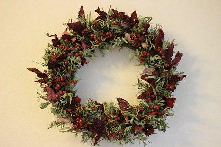 秋冬リース & クリスマスリース_b0238118_19534754.jpg