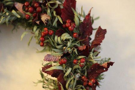 秋冬リース & クリスマスリース_b0238118_19543834.jpg