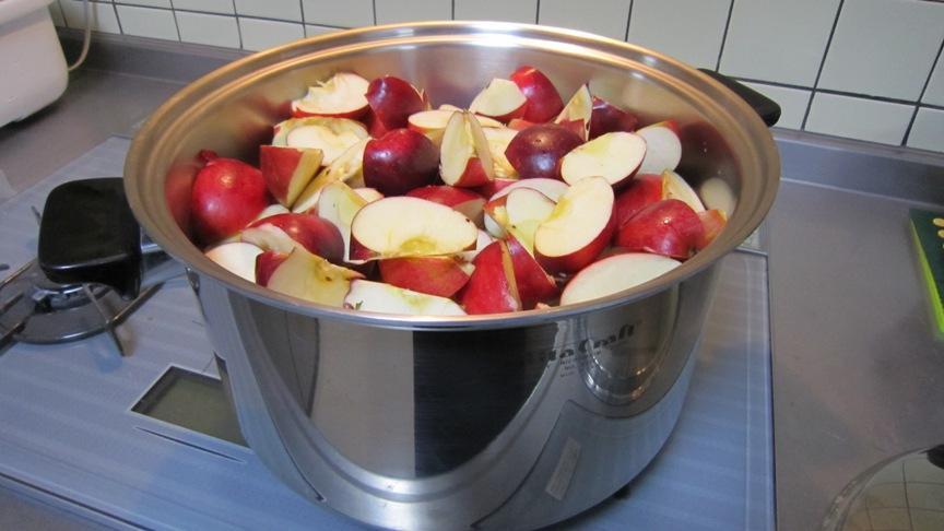 不揃いのリンゴたちのジャム_b0214473_1542773.jpg