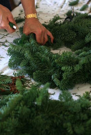 クリスマスリースlesson_f0127281_16255085.jpg
