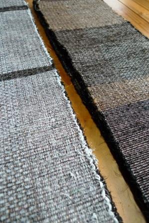 ゆきかうものⅩⅣに出品する『裂織り半巾帯2種』。_f0177373_2082291.jpg