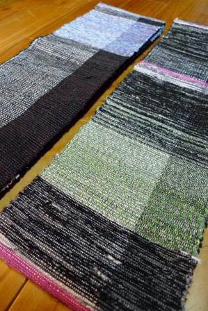 ゆきかうものⅩⅣに出品する『裂織り半巾帯2種』。_f0177373_2085548.jpg