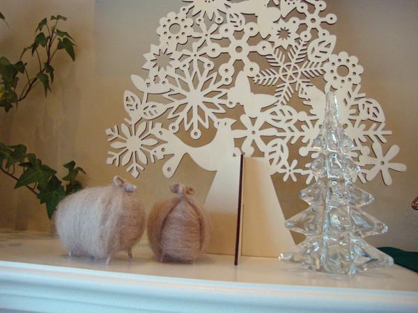 【 軽井沢インテリア 5  】 雪の軽井沢 と クリスマスデコレーション ♪_d0037284_953375.jpg