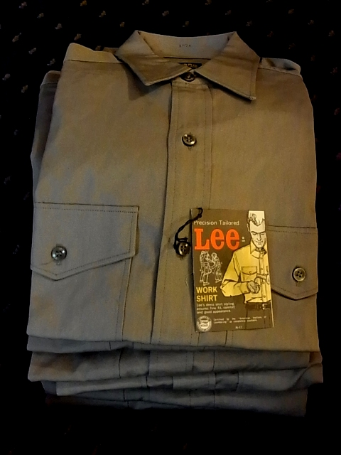 60'S ALL COTTON DEAD STOCK LEE WORK SHIRTS マチ付き_c0144020_11492174.jpg