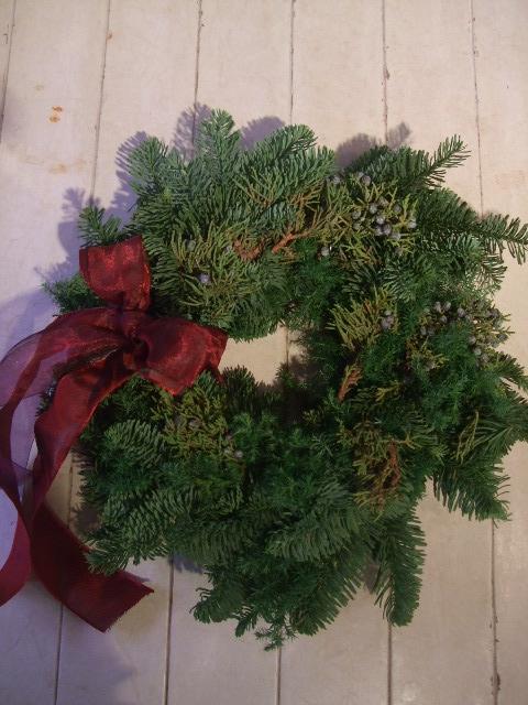 オークリーフ花の教室(クリスマスのリース)_f0049672_1842668.jpg