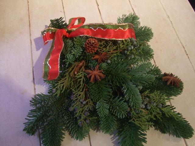 オークリーフ花の教室(クリスマスのリース)_f0049672_18455831.jpg