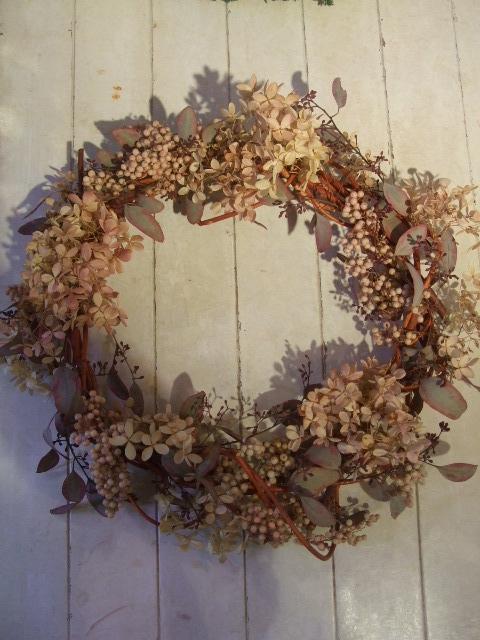 オークリーフ花の教室(クリスマスのリース)_f0049672_18472440.jpg