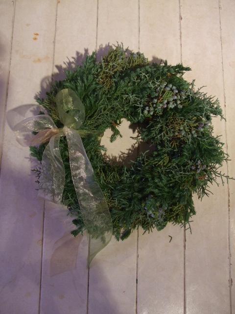 オークリーフ花の教室(クリスマスのリース)_f0049672_18493570.jpg