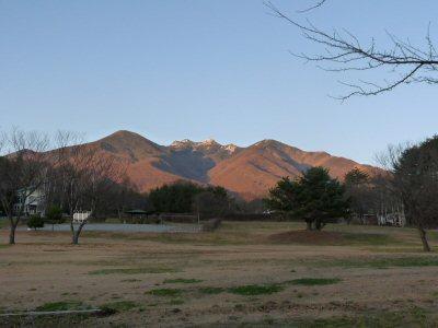 夕陽に染まる八ヶ岳_f0019247_222518100.jpg