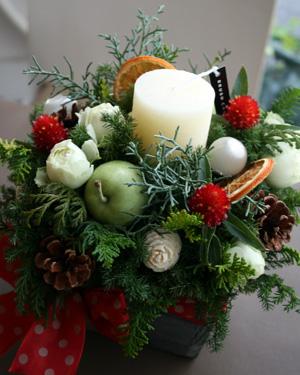 ★クリスマスアレンジ★_a0118355_17525263.jpg
