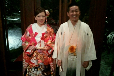会長、まさこちゃん結婚式_e0173533_17394487.jpg