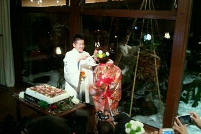 会長、まさこちゃん結婚式_e0173533_1742679.jpg