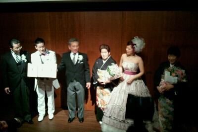 会長、まさこちゃん結婚式_e0173533_1748405.jpg