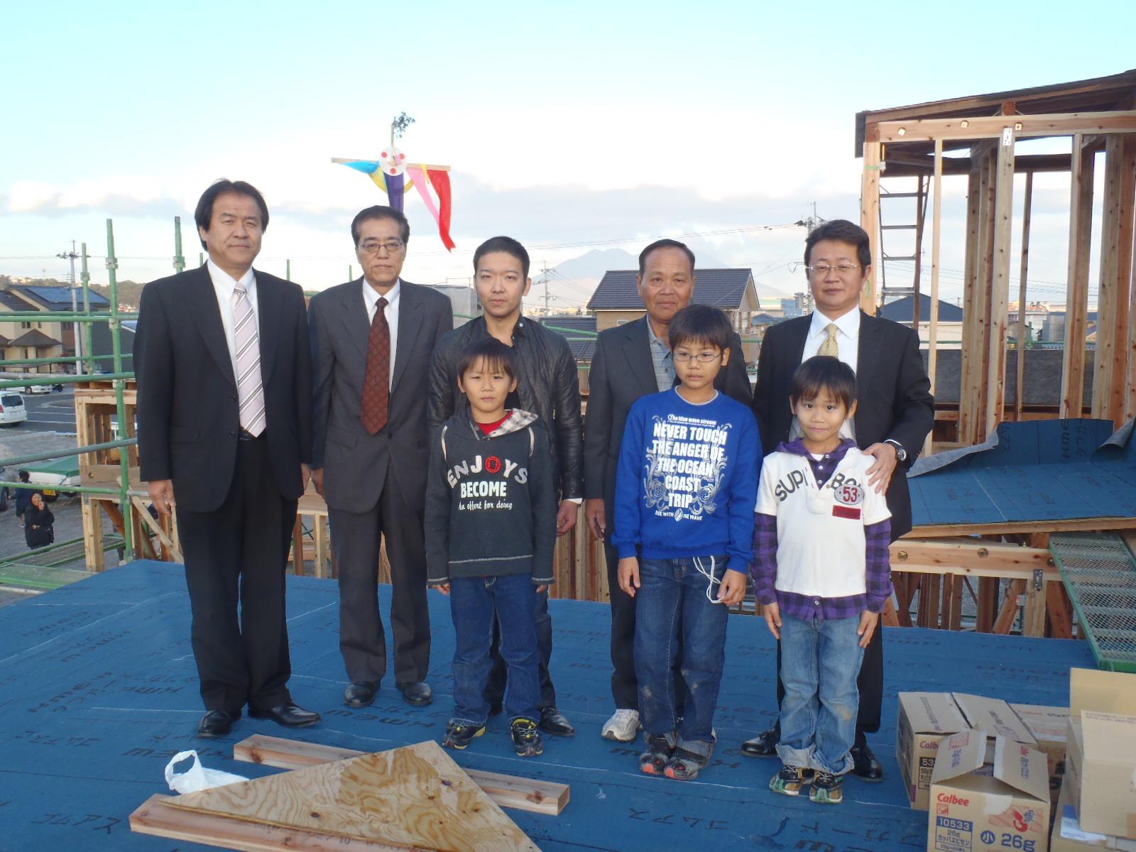 上棟しました~上福元町の家_d0174072_21423273.jpg