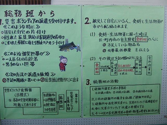 富士高を避難所とする近隣4区の合同避難所訓練 その2_f0141310_831236.jpg