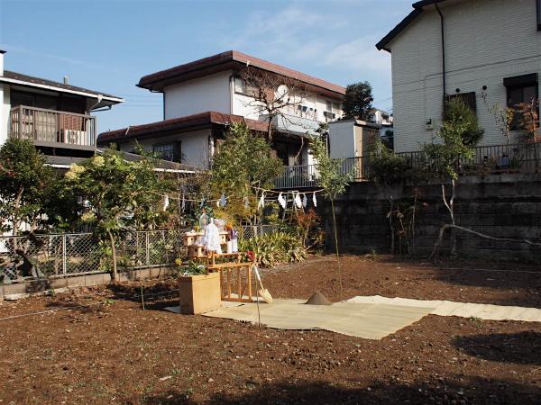 「聖蹟桜ヶ丘の家」地鎮祭_f0230666_16382179.jpg